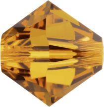 Swarovski Crystal 5328 Bicone- 3mm Crystal Topaz