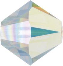 Swarovski Crystal Bicone 5328-4mm- White Opal AB