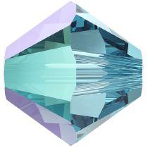 Swarovski Crystal 5328 Bicone - 4mm -Aquamarine Shimmer