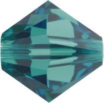 Swarovski Crystal Bicone 5328-5mm-Blue Zircon-Factory Pack