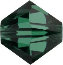 Swarovski Bicone (5328) -5mm -Crystal Emerald Factory Pack