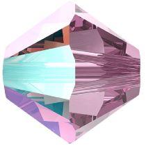 Swarovski Crystal 5328 Bicone -6mm - Lt. Amethyst Shimmer