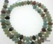 Amazonite Multicolour Plain Rondelles-5x8mm- 16