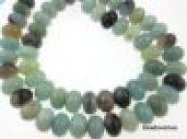 Amazonite Multicolour Plain Rondelles-6x10mm- 16