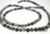 Black Veined Jasper Round- 4mm- 16