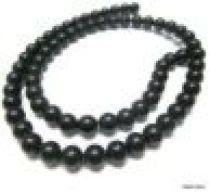 Black Onyx (dyed) Matt Plain R-4mm -16