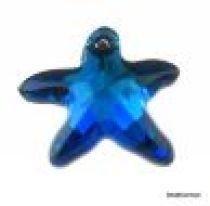 Swarovski Crystal 6721 Starfish Pendant- 16mm- Crystal Bermuda Blue