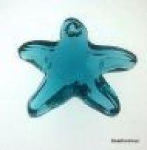 Swarovski Crystal 6721 Starfish Pendant- 16mm- Crystal Indicolite