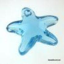 Swarovski Crystal 6721 Starfish Pendant- 16mm- Crystal Aquamarine