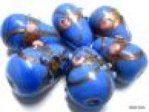 Wedding Cake  Drop Beads 20 x 14mm- Blue Opaque