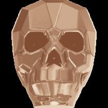 Swarovski 5750 Skull Bead -19mm- Rose Gold 2x