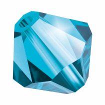 Preciosa® Crystal Bicone Beads Aqua Bohemica