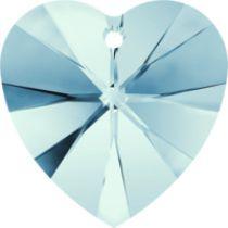 Swarovski Pendants Heart - 10mm Aqua