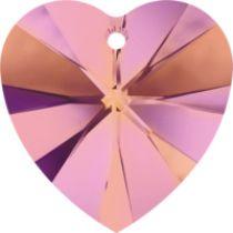 Swarovski Crystal Heart(6228) Pendant- 10mm- Crystal Astral Pink