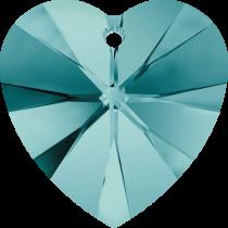 Swarovski Pendants Heart - 10mm Blue Zircon