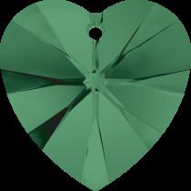 Swarovski Pendants Heart - 10mm Emerald