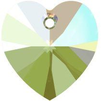 Swarovski 6228 Crystal Heart Pendant -10mm-Erinite Shimmer - 288 Pcs.- Factory Pack
