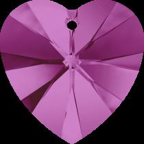 Swarovski Pendants Heart - 10mm Fuchsia
