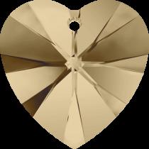 Swarovski Pendants Heart - 10mm Golden shadow