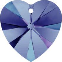 Swarovski Pendants Heart - 10mm Heliotrope