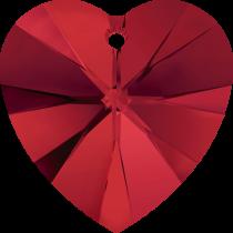 Swarovski Pendants Heart - 10mm Light Siam