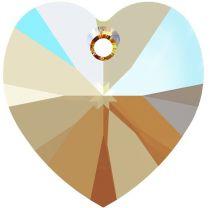 Swarovski 6228 Crystal Heart Pendant -14mm- Lt. Col. Topaz Shimmer