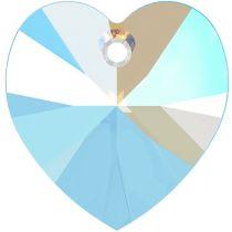 Swarovski 6228 Crystal Heart Pendant -18mm- Lt. Sapphire Shimmer - 72 Pcs.- Factory Pack