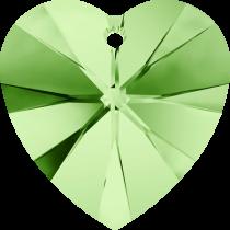 Swarovski Pendants Heart - 10mm Peridot
