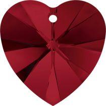 Swarovski Pendants 6228 Xillion Heart - 10mm Siam