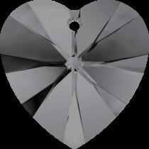 Swarovski Crystal Heart(6228) Pendant- 10mm- Crystal Silvernight