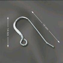 Sterling Silver Earwire W/Coil 18 x 14mm