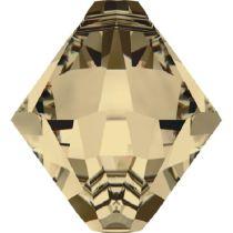 Swarovski Bicone (6301) Pendants -8MM Golden Shadow