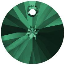 Swarovski Xillion Pendant 6428-12mm-Emerald