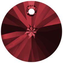 Swarovski Xillion Pendant 6428-12mm-Scarlet