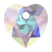 Swarovski Crystal 6432 Heart Cut Pendant - 8 mm- Crystal AB-Wholesale Pack - 72 Pcs.