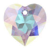 Swarovski Crystal 6432 Heart Cut Pendant - 8 mm- Crystal AB