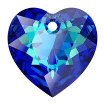 Swarovski Crystal 6432 Heart Cut Pendant - 14.5 mm- Bermuda Blue