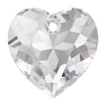 Swarovski Crystal 6432 Heart Cut Pendant - 14.5 mm- Crystal