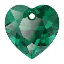 Swarovski  6432 Heart Cut Pendant - 14.5 mm- Emerald