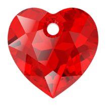 Swarovski Crystal 6432 Heart Cut Pendant - 14.5 mm- Lt. Siam
