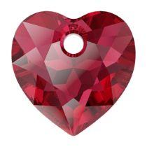 Swarovski  6432 Heart Cut Pendant - 14.5 mm-Scarlet