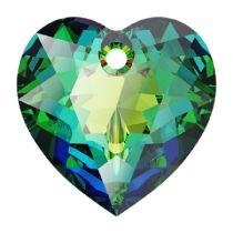 Swarovski Crystal 6432 Heart Cut Pendant - 14.5 mm-Vitrail Medium