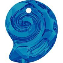 Swarovski  Sea Snail  6731- 14 mm- Bermuda Blue