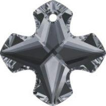 Swarovski Greek Cross Pendant-6867-14mm-Silver Night