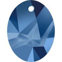 Swarovski Kaputt Oval Pendant-6911-26mm-Crystal Metallic Blue