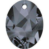 Swarovski Kaputt Oval Pendant-6911-26mm-Silver Night