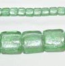 20 mm squares foil strand Light green(20 beads)