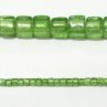 8m Cubes Foil Strands Peridot(51 beads)