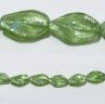 18x28mm Twisted foil strand Peridot(15beads)