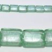 15x20mm Rectangles foil strand Light Green(19-20beads)